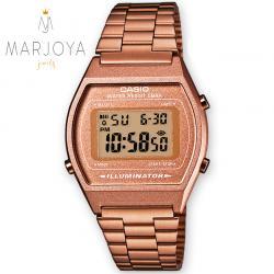 Orologio casio b640wc-5aef unisex acciaio rosè