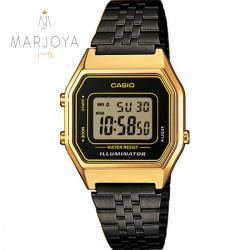 Orologio casio la680wegb-1 acciaio nero cassa oro unisex