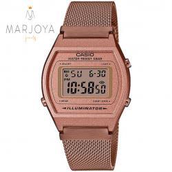 Orologio casio b640wmr-5aef unisex maglia milano acciaio rosè