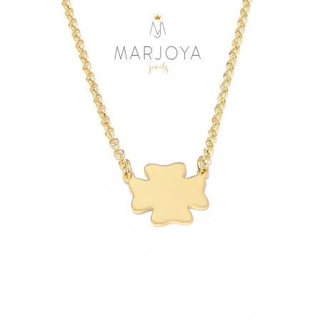 Collana donna con angelo in argento 925 dorato