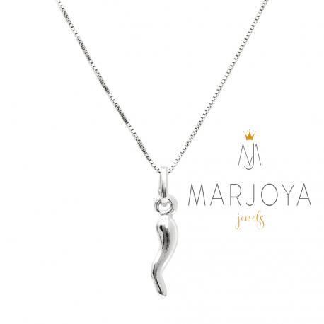 Collana con cornetto piccolo in argento 925