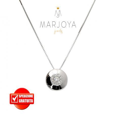 Punto luce magic russa in oro bianco 18 kt diamanti ct. 0,10