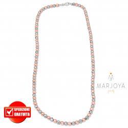 Collana in ematite argento e rosè e argento 925,uomo,donna